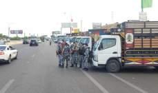اعتصام لسائقي الشاحنات الصغيرة بالجنوب احتجاجاً على منافسة غير اللبنانيين على لقمة عيشهم