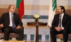 الحريري أجرى محادثات مع راديف والتقى الصفدي ورئيس بعثة الصليب الاحمر