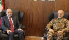 الصراف التقى قائد الجيش الايطالي وبحثا سبل تعزيز التعاون