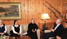 فرنجية يستقبل وفد الامانة العامة للمدارس الكاثوليكية برئاسة الاب عازار
