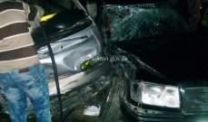 التحكم المروري:اصابات اثر تصام بين سيارة وفان على طريق عام الدوسة