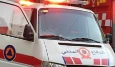 الدفاع المدني:سقوط عامل من التابعية السورية عن ارتفاع 5 أمتار داخل مبنى في فاريا