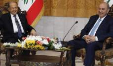 الرئيس عون يلتقي علاوي في بغداد