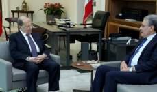 الرئيس عون التقى رئيس مجلس شورى الدولة