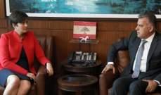 اللواء ابراهيم التقى السفيرة الكندية وعرض معها الاوضاع العامة