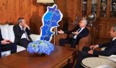 فرنجية مستقبلا السفير البريطاني: نحن مع الشفافية وسنعارض أي مشروع مبهم