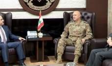 قائد الجيش بحث مع هادي أبو الحسن في الأوضاع العامة والتقى وسام فتوح