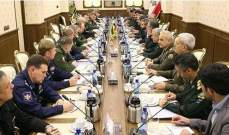 اجتماع للجنة العسكرية المشتركة بين إيران وروسيا للإتفاق على برامج التعاون