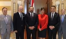 الحريري استقبل المدير التنفيذي لسيمنز والميس ورئيس مجلس العموم الكندي