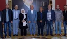الحريري استقبلت حمد والمطران كفوري ووفد مجلس علماء فلسطين وشخصيات مهنئة