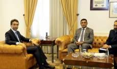 شبيب بحث مع سفير باكستان في سبل التعاون بين البلدين