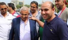 أسامة سعد أدى صلاة عيد الفطر في المسجد العمري الكبير وزار أضرحة الشهداء
