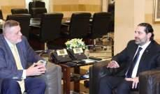 المنسق الخاص للأمم المتحدة بلبنان: ناقشت مع الحريري برنامج الحكومة الإصلاحي