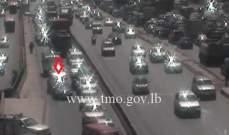 حادث تصادم بين سيارتين محلة جسر الكرنتينا المسلك الغربي والاضرار مادية