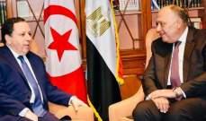شكري والجهيناوي بحثا بتعزيز العلاقات الثنائية وتطورات القضايا الإقليمية