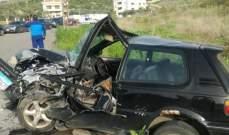 النشرة: جريحان بحادث سير بين سيارتين في مجدليون شرق صيدا