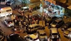 النشرة: جريحان في حادث سير على طريق عام الهلالية شرق صيدا