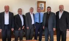 وفد من حماس بحث مع مدير المخابرات الاوضاع في المخيمات الفلسطينية