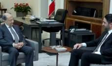 الرئيس عون استقبل الغريب وعرض معه ملف النازحين