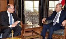 بري التقى بيلينغسلي: لأهمية القوانين التي اقرها مجلس النوب لمحاربة تمويل الارهاب