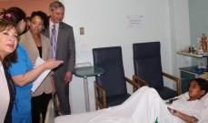الملحقة الثقافية في السفارة الاميركية زارت  مستشفى حمود الجامعي في صيدا
