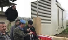 الكتيبة الإسبانية باليونفيل قدمت مولد كهربائي لبلدة مجدل سلم