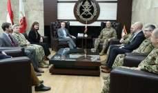 قائد الجيش بحث مع السيناتور الأميركي لانكفورد بالعلاقات الثنائية بين جيشي البلدين