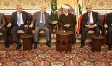 دريان التقى وفدا من النواب السنة المستقلين: أبوابنا مفتوحة لجميع اللبنانيين