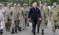 آكار: سنواصل بكل عزم وإصرار العمل على صون شرف حدود تركيا