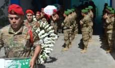 قيادة الجيش وأهالي الميناء شيعوا المجند الشهيد الممددة خدماته علي حسن مصطفى