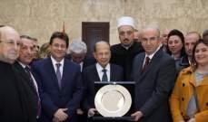 الرئيس عون استقبل بحضور كنعان وفداً من ابناء المتين مشيخا