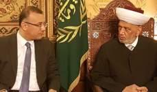علي درويش بدأ زيارة الى استراليا والتقى السفير اللبناني في كانبيرا
