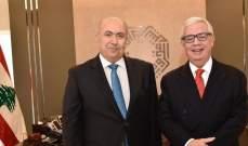 مخزومي عرض العلاقات الثنائية مع سفير المكسيك