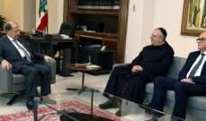 الرئيس عون استقبل المطران مارون العمار والنائب زياد أسود