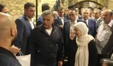 النشرة: اللواء ابراهيم زار صيدا بدعوة من بهية الحريري