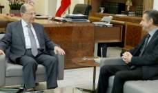 الرئيس عون استقبل الوزير السابق عبدالله فرحات