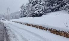 التحكم المروري: طريق عيناتا الأرز مقطوعة بسبب تراكم الثلوج