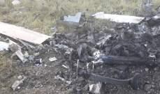 فوج الهندسة في الجيش اللبناني يعاين مكان سقوط طائرة التجسس الاسرائيلية