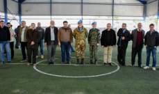 اليونيفيل الإيطالية والكورية تدشنان مشروع خيمة الملاعب الرياضية في مارون الراس