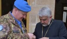 قائد الكتيبة الإيطالية زار مطرانية صور للروم الملكيين الكاثوليك