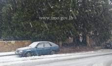 التحكم المروري: طريق كفردبيان حدث بعلبك مقطوعة بسبب تراكم الثلوج