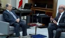 الرئيس عون استقبل ممثّله الشخصي لدى المنظمة الدولية الفرنكوفونية