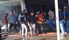 النشرة: اندلاع حريق في مصبغة قرب الريجي في الغازية