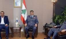 اللواء عثمان التقى خالد العطية وبحث معه مواضيع الجمعية العمومية للاتح
