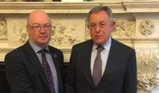 السنيورة التقى وزير الدولة البريطاني لشؤون الشرق الاوسط وشمال افريقيا