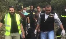 عناصر الدفاع المدني سحبوا جثة رجل مجهول الهوية من جبل الصويري