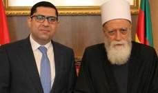 الشيخ حسن التقى المحافظ مكاوي وعرض معه المواضيع العامة