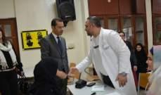 مستشفى الساحل نظمت زيارة طبيه الى ثانوية الغبيري