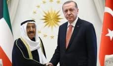 أمير الكويت أبرق إلى اردوغان معزيا بضحايا حادث القطار في أنقرة