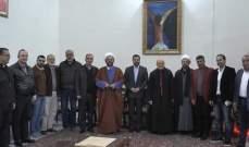 جولة لوفد من حزب الله على الكنائس بمدينة صور بمناسبة الأعياد
